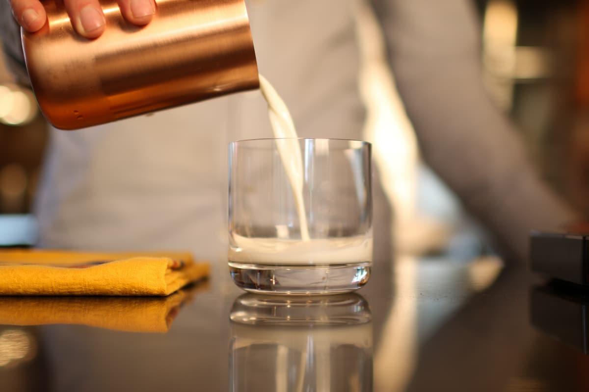 Pour 3-4 oz. of Milk